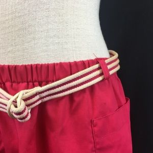Vintage Skirts - Vintage Hot Pink/Red Belted Skirt